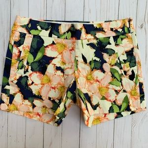 J Crew Factory Floral Print Cotton Casual Shorts